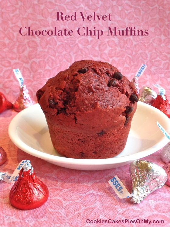 Red Velvet Chocolate Chip Muffins