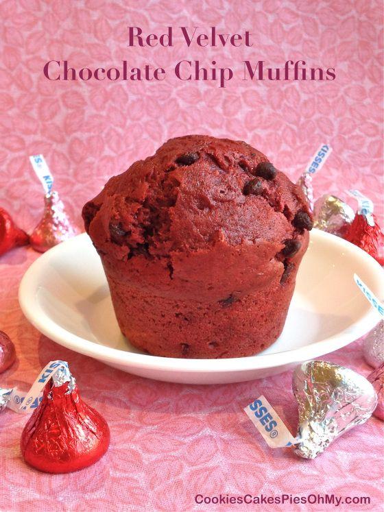 Red Velvet Chocolate Chip Muffins