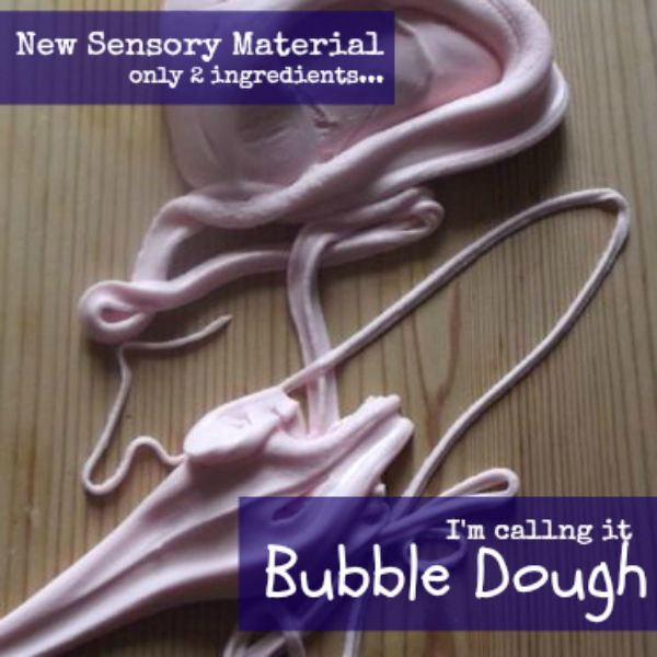 bubble dough made with dishsoap and corn starch