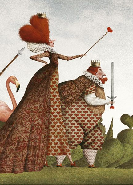 "I'm going to go out on a limb here and I'm guessing the Queen of Hearts from ""Alice in Wonderland""."