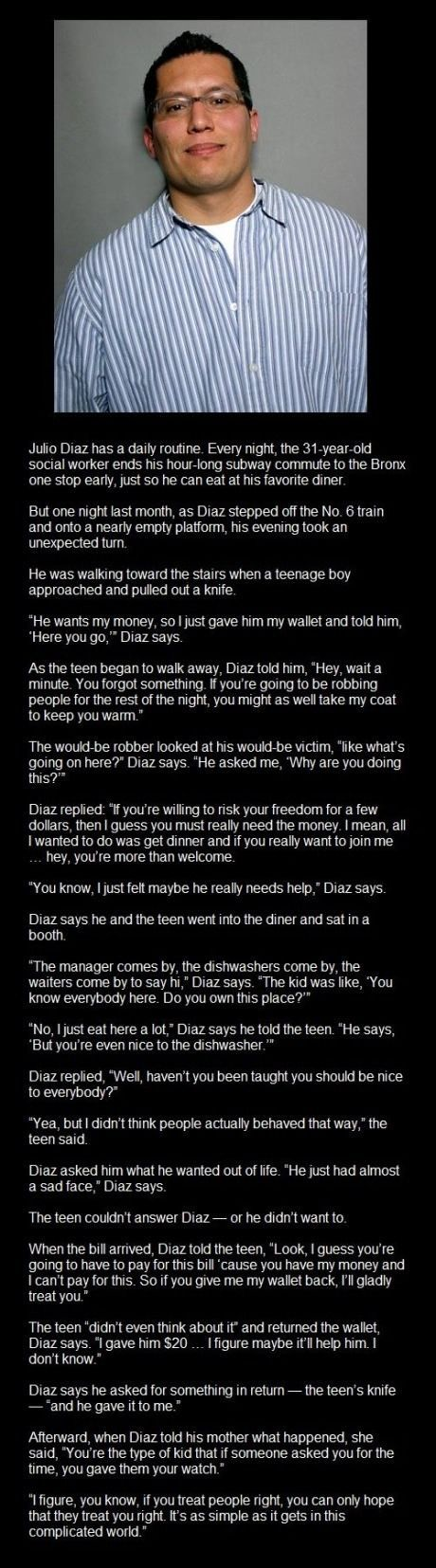 A story about Julio Diaz. Social Worker for the WIN.