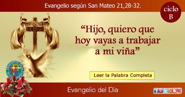 MISIONEROS DE LA PALABRA DIVINA: EVANGELIO - SAN MATEO  21,28-32