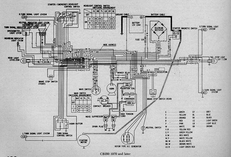 Honda Motorcycle Wiring Diagrams Parts Pinterest – Kawasaki 175 Wiring-diagram