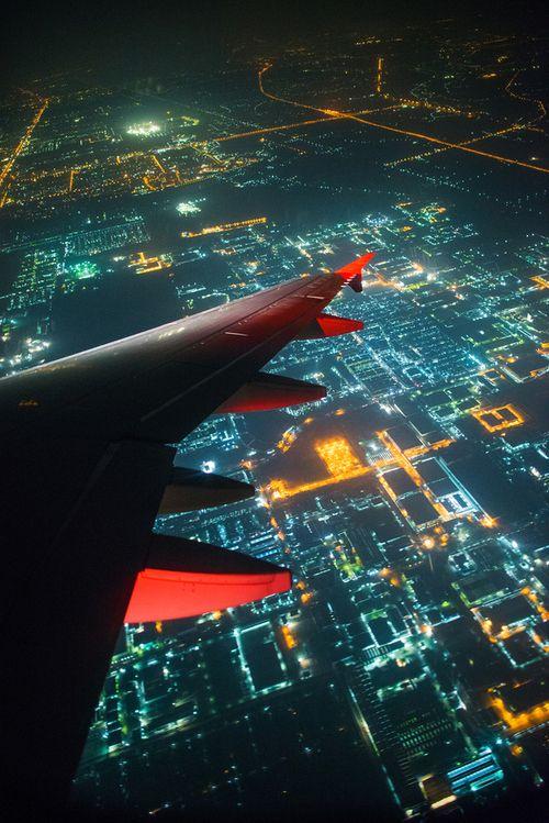 Night flying.