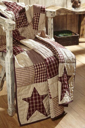 "Cheston Primitive Star Quilted Throw Our exclusive Cheston Primitive Star Quilted Throw is perfect for extra chilly nights or snuggling on the couch with family. This throw measures 50x60"" and is made"
