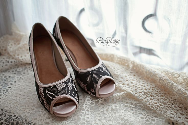 Lace shoes by rinathangshoes...