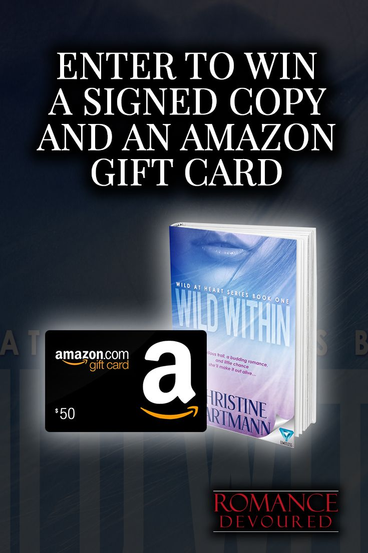 Win a 10 or 50 amazon gift card or signed copies from author christine hartmann