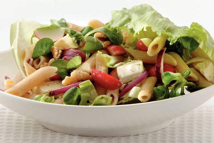 pastasalade met brie en walnoten