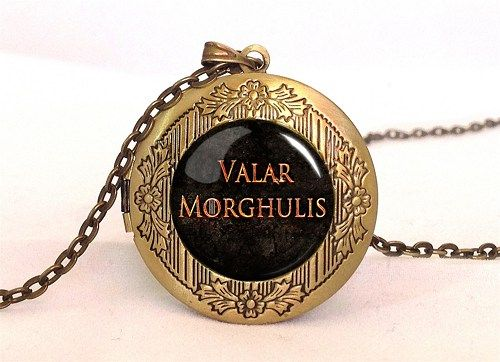 Game of Thrones Locket with Chain, Targaryen Dragon Necklace Pendant