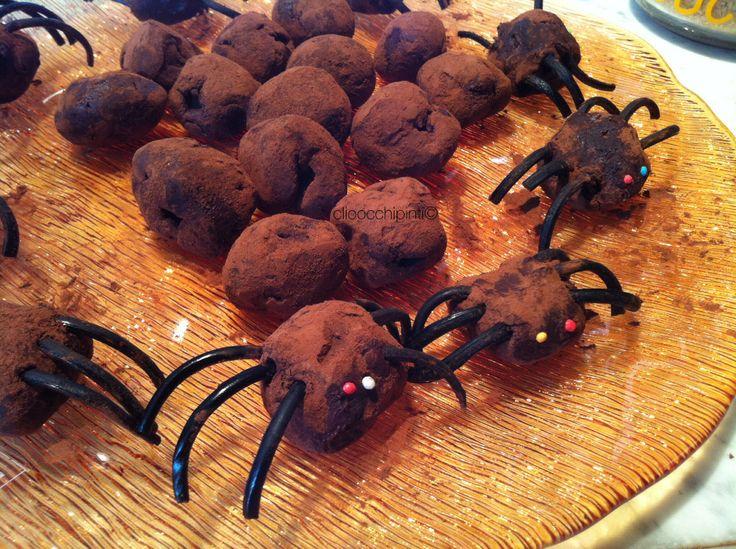 Tartufi al cioccolato per Halloween ~ Halloween's chocolate balls