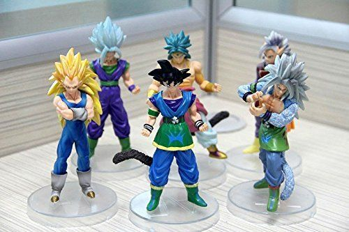Qiyun 5 Lot AF Dragon Ball Z Lot Action Figure GOKU SAIYAN Set of 6pcs @ niftywarehouse.com #NiftyWarehouse #Nerd #Geek #Entertainment #TV #Products
