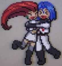 Image result for perler bead pokemon trainer