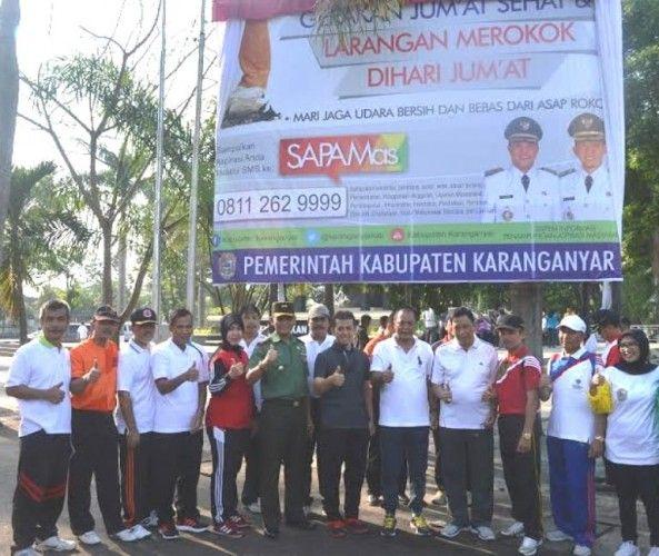 Tribratanews.com - Pemerintah Kabupaten (Pemkab) Karanganyar meluncurkan program One Day No Smoking atau Sehari Tanpa Merokok di Bumi Intanpari, Jum