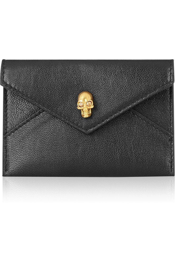 Alexander McQueen | Skull leather cardholder | NET-A-PORTER.COM