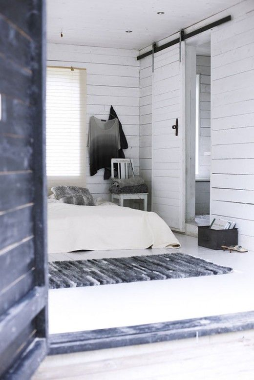 love this door! adore the white wood with the additional black