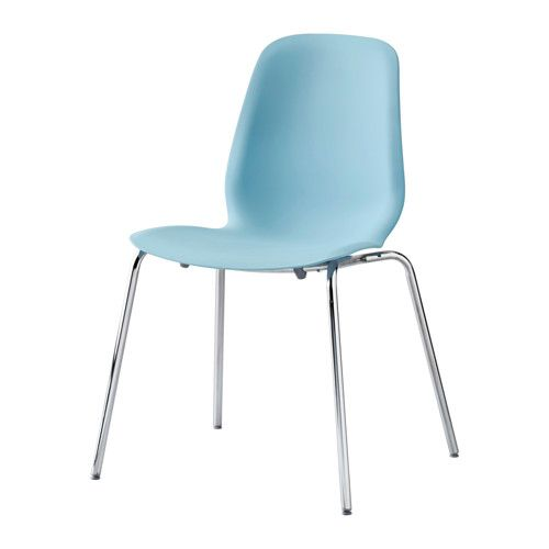 IKEA - LEIFARNE, Chair, You sit comfortably thanks to the restful flexibility of the scooped seat and shaped back.The self-adjusting plastic feet adds stability to the chair.A special surface treatment on the seat prevents you from sliding.You can stack the chairs, so they take less space when you're not using them.