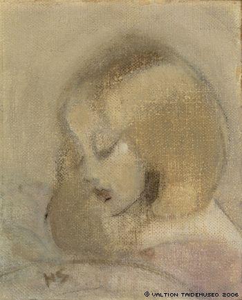 Helene Schjerfbeck: Annuli lukee - Annuli Reading 1923