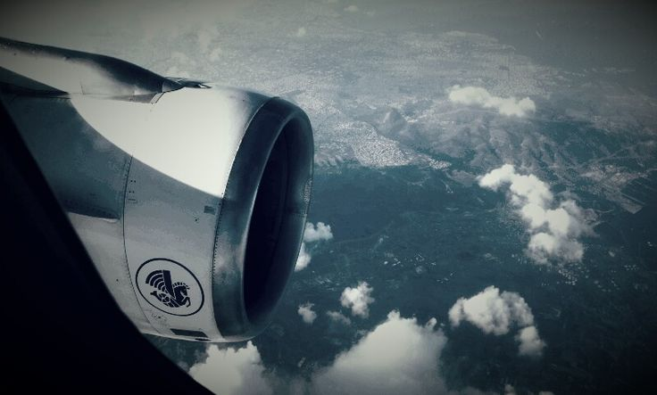 Air France airbus A320 left engine