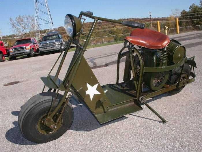 cushman scooters | this is a cushman auto glide model 53 motor scooter made for ww2 ...
