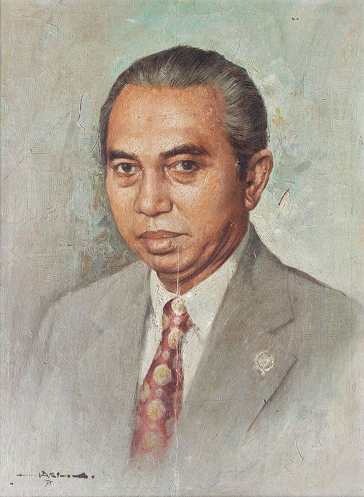 1975 PORTRAIT OF ADAM MALIK, by artist Hasim