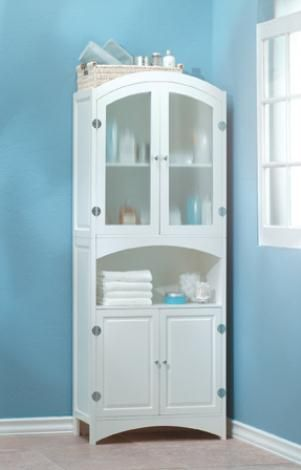 Free standing linen closet for the home pinterest - Freestanding bathroom linen closet ...