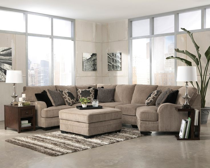 Leather Sectional Sofa Signature Design Living Room LAF Loveseat Wedge Armless Loveseat RAF Cuddler Sectional Comfy Couch Company Columbus OH