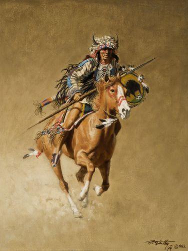 McCarthy, Frank, 1924-2002: Blackfoot Warrior www.jacksonholeartauction.com