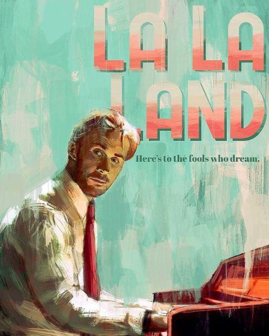 La desafiante actitud de Sebastian.   26 Hermosas ilustraciones que sólo apreciarás si amaste 'La La Land'
