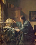 The Astronomer c. 1668  by Jan Vermeer Van Delft