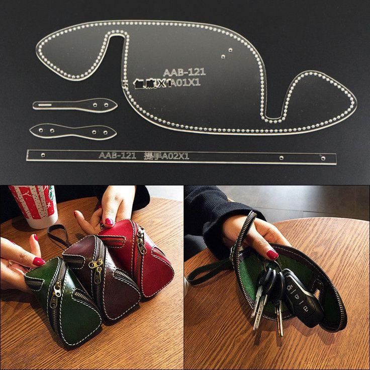 Artisanat cuir bricolage femmes sac à important sac à dos sac clé de stockage motif de couture papier Kraft dur pochoir modèle 40x160x60mm