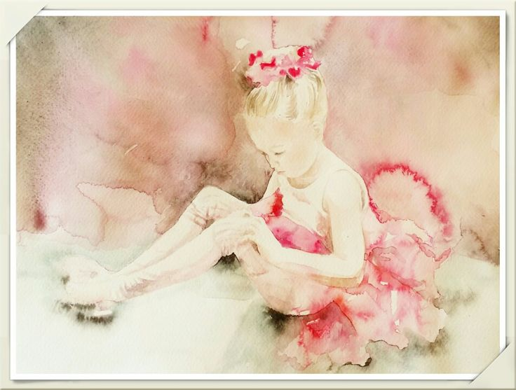 Ballerina / Aquarelle painting made by Tinterova