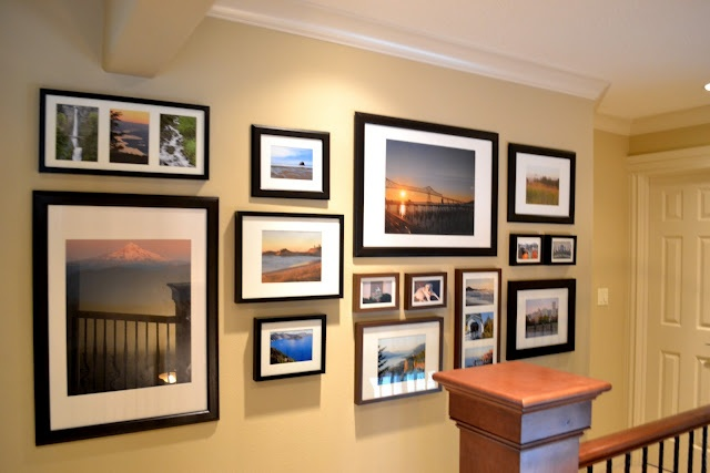 Mixing black and brown gallery frames.    a home in the making: {create} gallery wall, part deux
