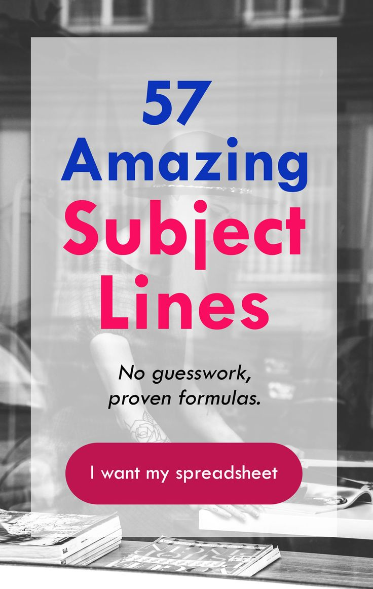 Your subject line inspiration from the best marketers on the internet. No guesswork, proven formulas. Click to download a copy of the spreadsheet with the best subject lines for marketing emails.