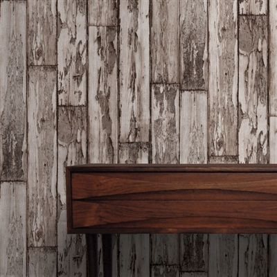 33 best images about wood plank wallpaper on pinterest - Faux wood plank wallpaper ...