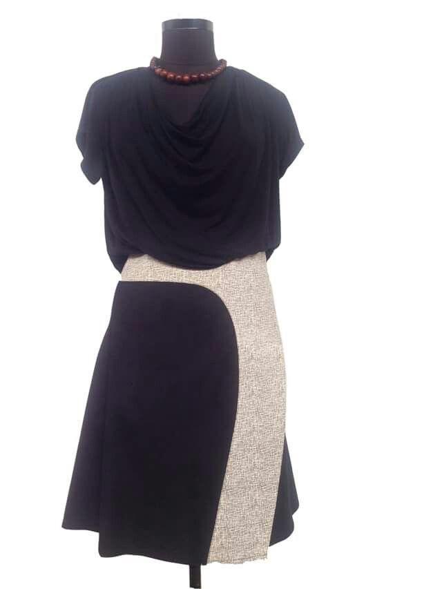New Kiki wrap skirt in black and white.