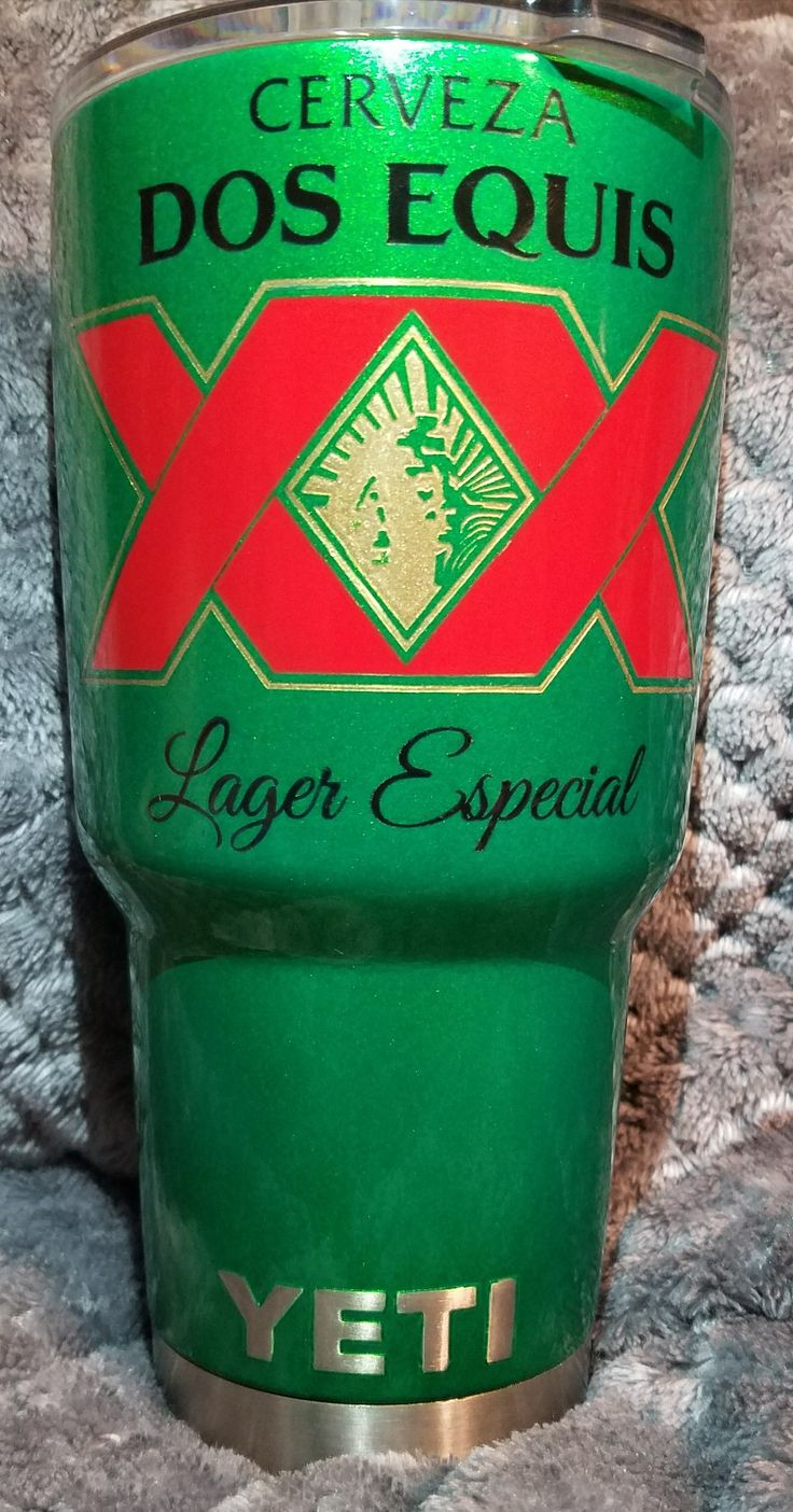 Dos equis YETI all powdercoat to stainless. No decals or ...