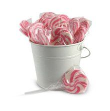 Strawberry flavoured pink and white swirl lollipops for sale online in Australia. Buy online or in store - we deliver our lollipops Australia wide