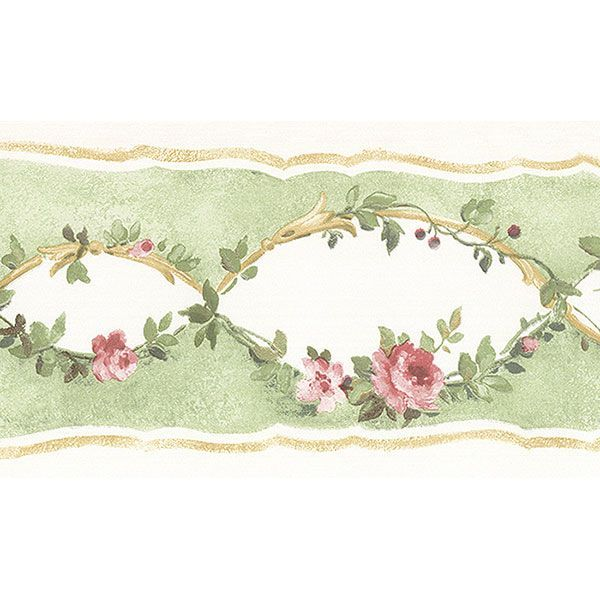 Pin by Amy Jones on Victorian Rose Wallpaper Border