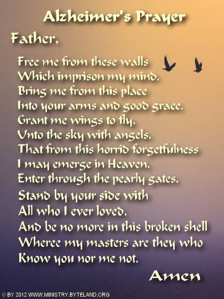 Poetry Alzheimers Disease   Pray for Alzheimers victims