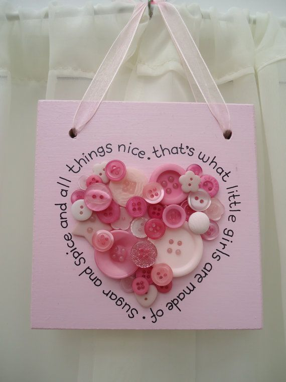 Handmade 'Sugar and spice' wooden plaque on Etsy, £12.00