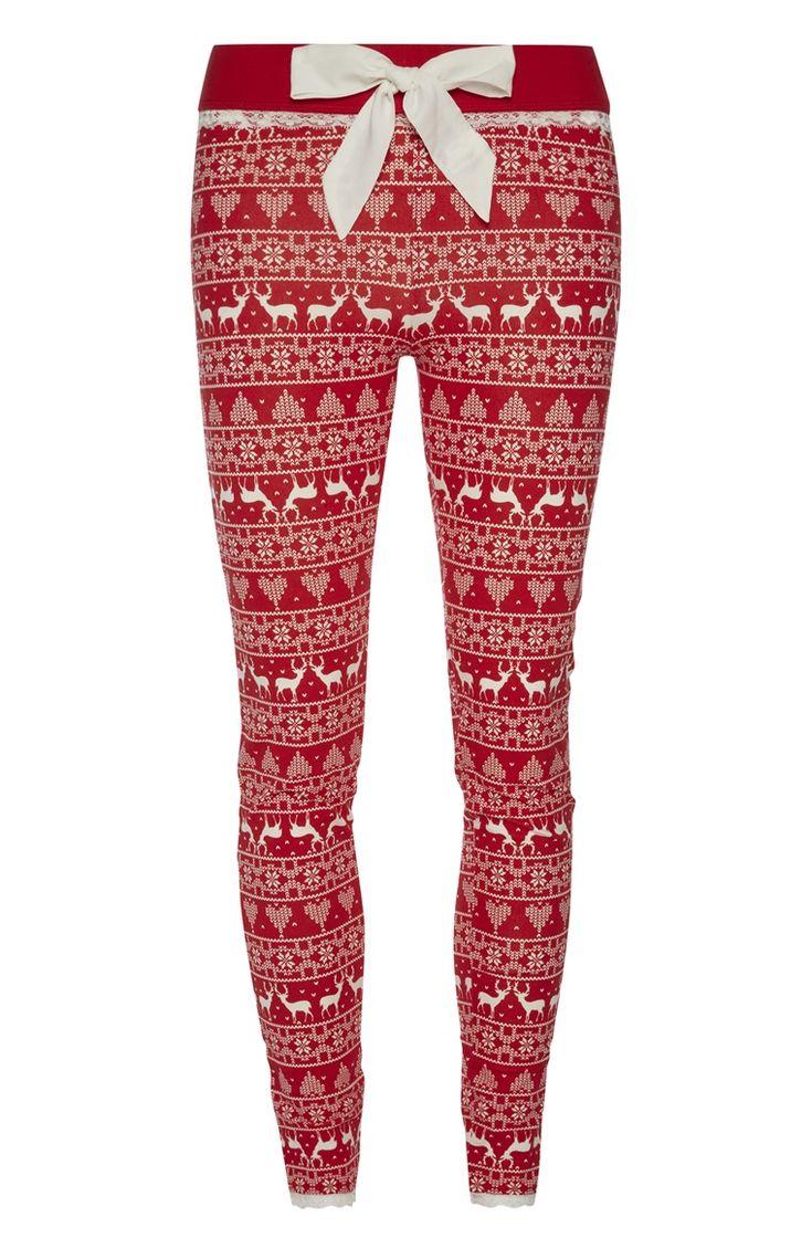 Primark - Rode Fairisle-kerstmispyjamalegging