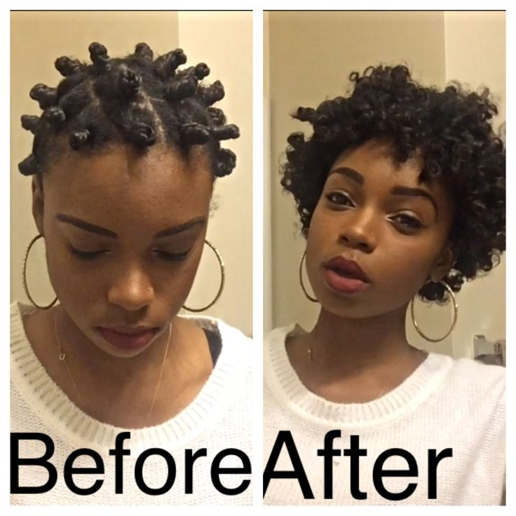 short hair bantu knot out