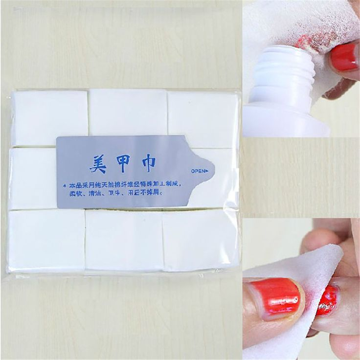 1000 pcs Nail Art Tips Manicure Polish Remover Clean Cotton Wipes Lint Pads Kertas NOV23