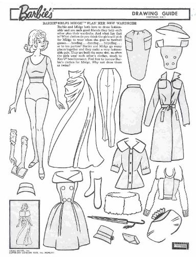 miss missy paper dolls vintage barbie drawing guide portfolio barbie pinterest drawings. Black Bedroom Furniture Sets. Home Design Ideas