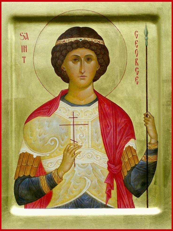 "St. great martyr George. 2013. Wood, gesso, tempera, gilding. 8"" x 6,3"". Private collection (USA). Отметить на фотоУкажите местоРедактировать"