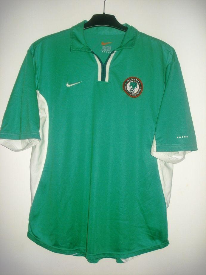 Vintage Nike Nigeria Home Shirt Jersey Trikot Maglia Camiseta 2000 - 2001