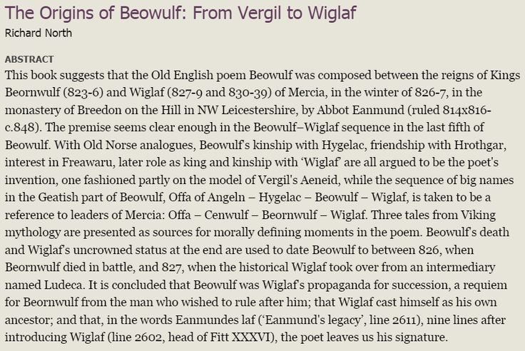 beliefs of anglo saxon people as depicted in the poem beowulf Consequently, the modern reader wants assurance that the noble ideals that he   unfortunately, he points out, unlike other peoples, the anglo-saxons left no   the christianity described by the beowulf poet is much more old testament, .