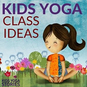 Looking for fun kids yoga class ideas? This collection of yoga ideas is for your home, classroom, or studio. Each theme has 5 books + 5 yoga poses for kids.