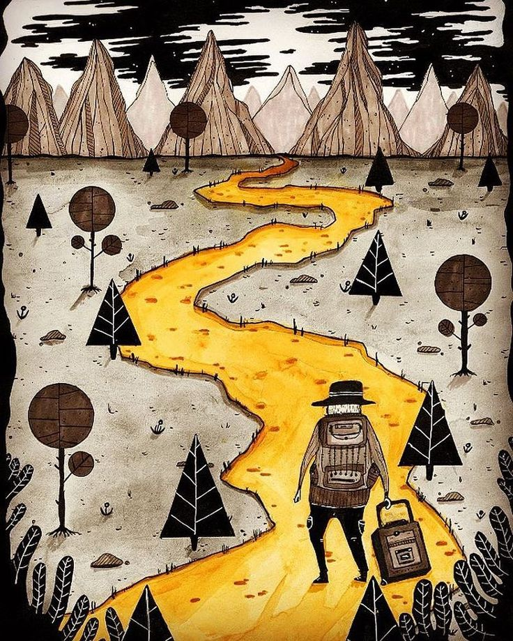 RepostBy @jeroen_mameli: An illustration of a lonely traveller who travels around the world by foot #inkt #travelling #lonely #man #tekening #conceptart #illustratie #illustration #art #landscape #trees #road #roadtrip #tekening #concept #travel #aroundtheworld #alone #thedesigntip #colorful #fineliners #handmade @dori_sue (via #InstaRepost @AppsKottage) Follow us on Facebook http://ift.tt/1ZBR6Ym