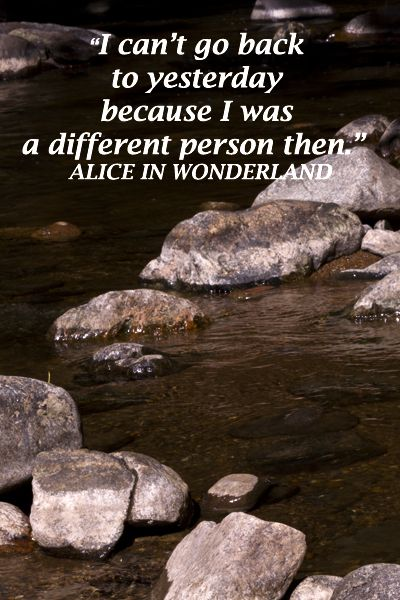"""Life and travel are transformational -- """"I can't go back to yesterday because I was a different person then.""""  Alice in Wonderland – Image of KEN LOCKWOOD GORGE in New Jersey by Dr. J.T. McGinn -- Examine quotes on the journey, from Van Morrison through Rumi at http://www.examiner.com/article/travel-a-road-of-literate-quotes-about-the-journey"""